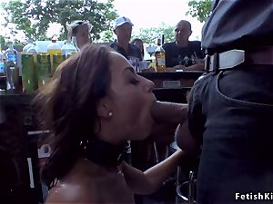 european honey disgraced in public nude caboose