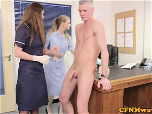 female dominance Cayenne Klien makes patient spunk