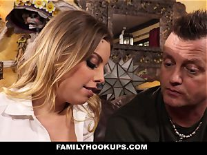 FamilyHookUps - light-haired honey nails Her Brother-In-Law