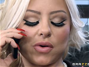 sizzling Headmistress Britney Shannon gets her forearms on a crazy college girl