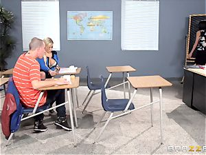 Bibi Noel and Anissa Kate ravage in the classroom