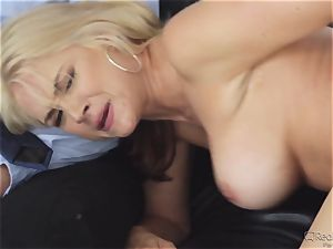 thirsty wifey Sarah Vandella gets her appetite suppressed by bbc
