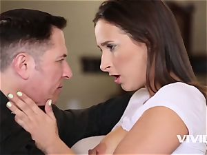 Ashley gets caught all moist and kinky by her stepdad