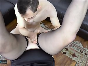 AgedLovE Lacey Starr nailing Poolboy hard-core
