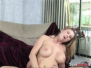 sensual light-haired cougar gets torn up
