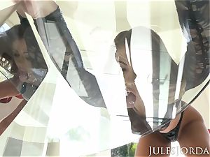 Jules Jordan - Adriana Chechik dual ass-fuck internal cumshot!