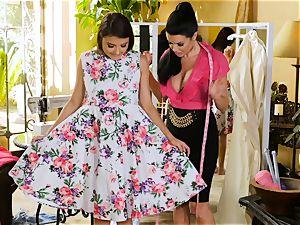 Adria Rae seduced by gorgeous seamstress Veronica Avluv