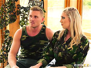 Army honeys Lexi Lowe and Stella Cox get a dual helping of bone