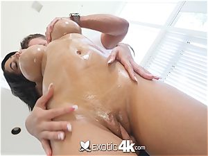 Exotic4k busty ebony Shay Evans bi-racial pound