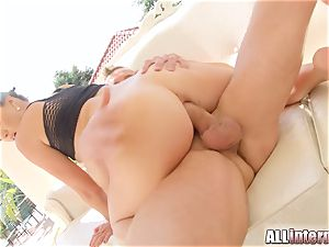 All internal Tiffany chick buttfuck cum-shot action