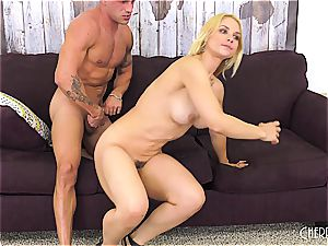 Sarah Vandella pounds on cam and toys her honeypot to ejaculation