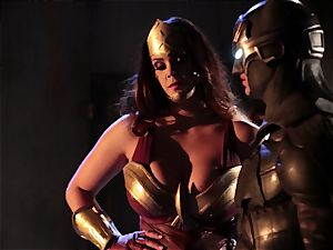 Alison Tyler pulverizes two insatiable superheroes