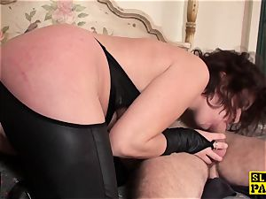 ginger-haired brit slave booty-fucked and tied
