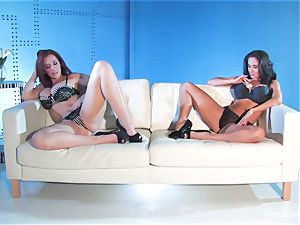 Jayden Jaymes shares a ample spear with Ava Addams