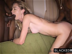 BLACKEDRAW nubile gets handed around and fucked by gang of BBCs