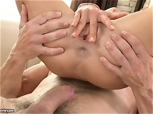 double pulverized Victoria Tiffani gets a filthy facial