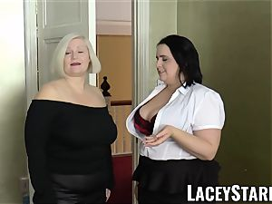 LACEYSTARR - nymphs spunked on their super hot faces by bbc