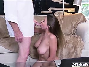 Latino father and bi-curious cheating man very first time Ivy impresses with her yam-sized boobs and bootie