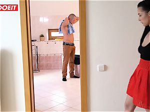 LETSDOEIT - insatiable nubile Cheats and humps her BFs father