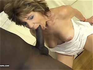 grandmother has fuckfest with dark-hued dude and loves arse pulverizing