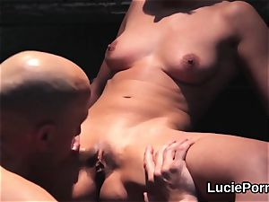 inexperienced lesbo nymphs get their jummy poons gobbled and ravaged