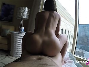 Rahyndee pleasuring chisel in Las Vegas hotel point of view