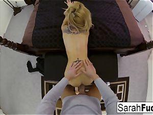 huge-titted superstar Sarah screws