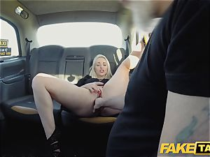 fake cab platinum-blonde mummy Victoria Summers boinked in a cab