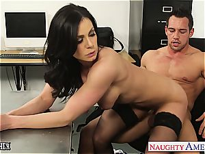black-haired schoolteacher Kendra passion gets facialized