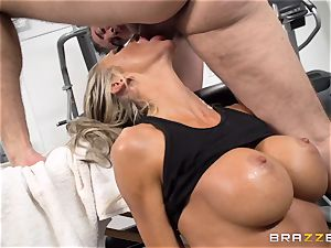 Courtney Taylor massaged and ravaged