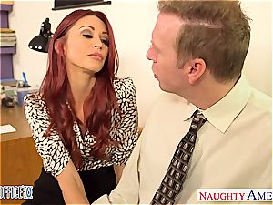 Ginger Monique Alexander can't keep her gams closed at the office