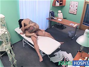 FakeHospital insatiable Russian stunner disrobes and smashes