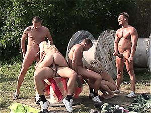 Paintballing for tits Part five