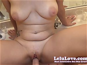 unexperienced quickie in the douche mirror with pov bj fuck-fest