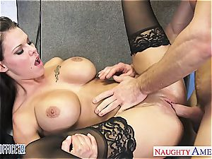 huge-titted office babe Peta Jensen penetrating