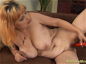 lush hairy ginger-haired mom jerking