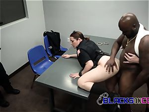 ebony suspect is identified and forced into humping mummy cops