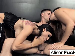 3-way hardcore vigorous hump with Alison