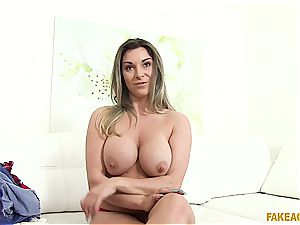 beautiful Victoria Summers jiggles her charming baps in front of the camera
