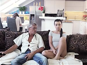 DADDY4K. parent takes part in spontaneous orgy with sweetie Erica dark-hued