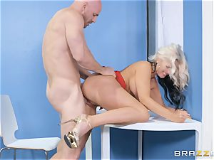 Alena Croft wedged by a phat penis