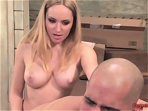 insane blondie Pegging a stud
