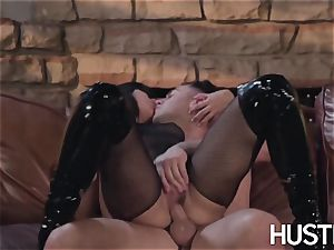 asian Kendra Spade blindfolded and gonzo facial cumshot