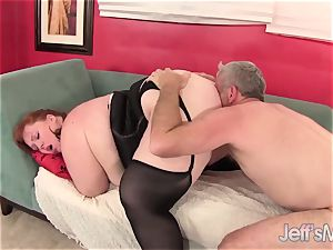 sandy-haired plus-size Julie Ann More Has rough hookup