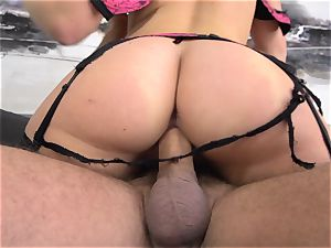 Maddy OReilly rammed full in her underwear