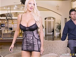 cumswapping hotties Adriana Chechik and Nicolette Shea fucked deep